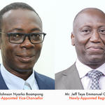 Prof. Johnson Nyarko Boampong and Mr. Jeff Teye Emmanuel Onyame
